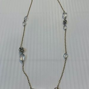 J CREW Long Crystal Necklace